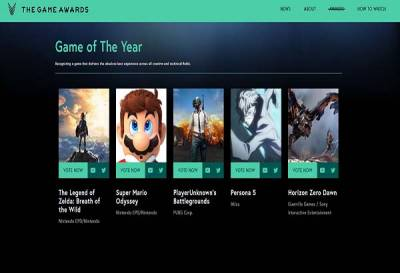 Estos son los nominados a The Game Awards 2017