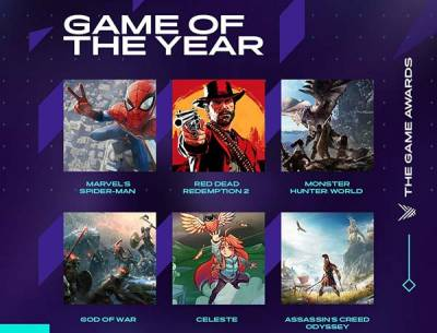 Conoce los nominados de The Game Awards 2018