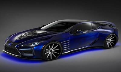 Lexus presume el Black Panther Inspired LC