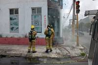 Local de electrodomésticos registró incendio en la colonia Chula Vista