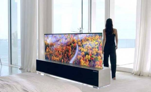 LG lanzará muy pronto la primera TV enrollable